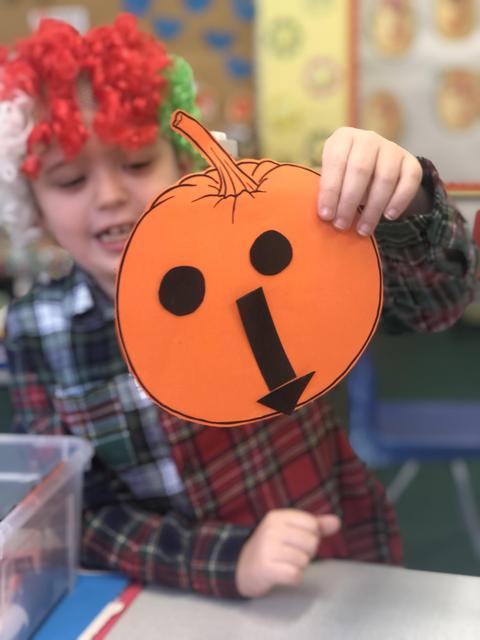 We made pumpkins!