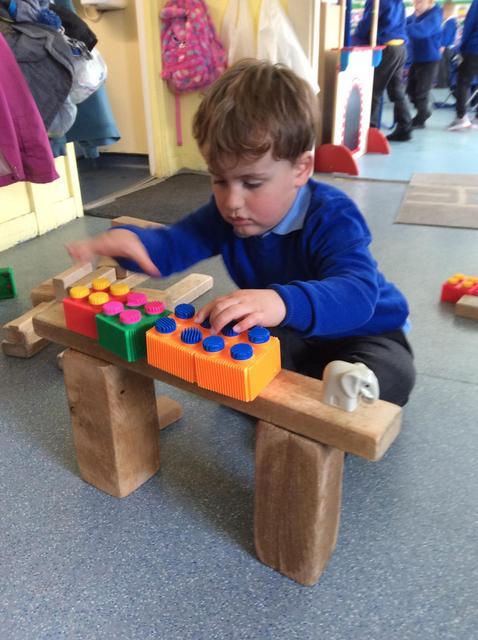 We build a bridge for Elmer to cross too.