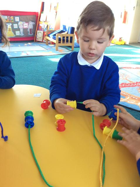 We have been continuing to develop our fine motor skills.