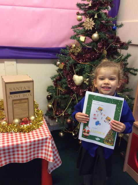 We posted our letters to Santa this week in a magical post box.
