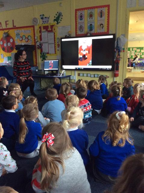 We listened to a special message from Santa!