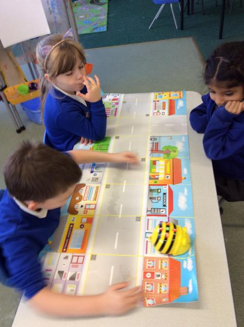 We practised directing the Beebot.