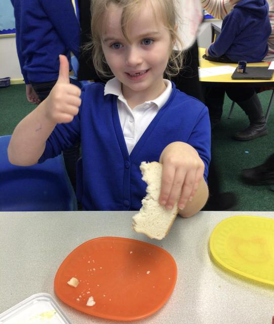 We enjoyed tasting different types of bread.