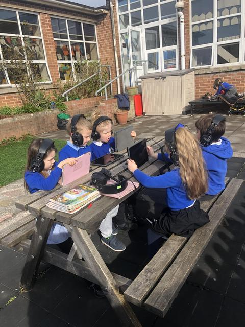 Busy doing lexia outside