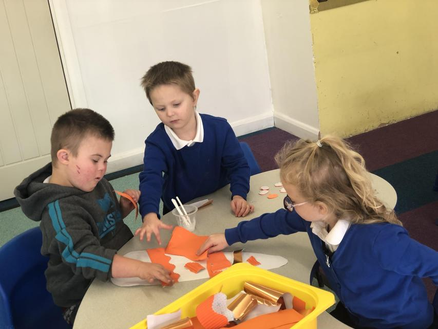 We worked together to make a carrot!
