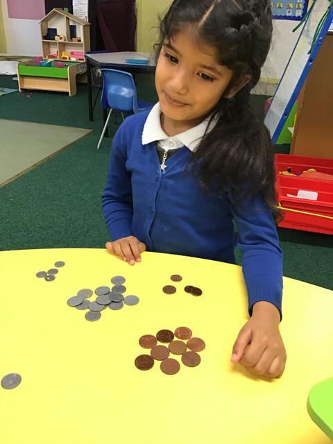 We sorted money.