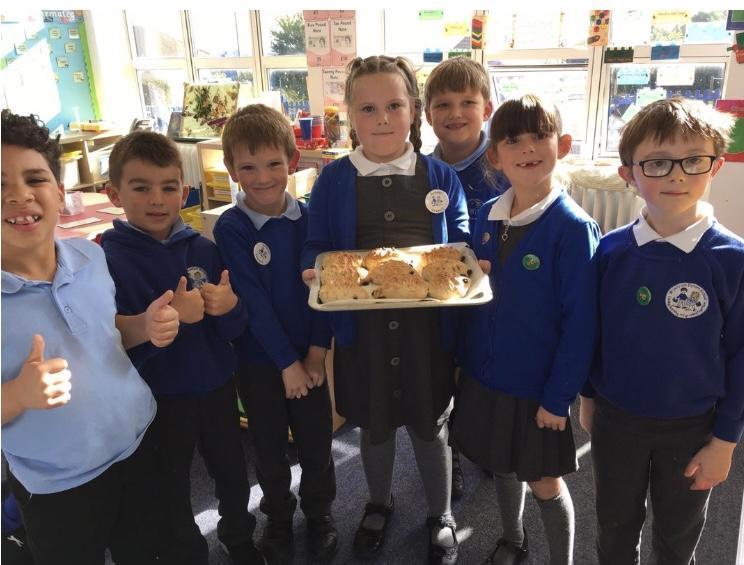 Making bread hedgehogs!