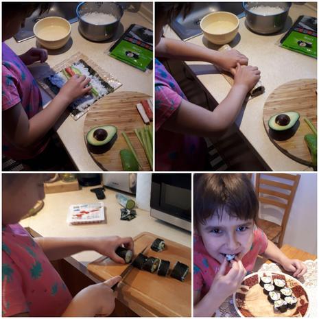 Making sushi! :)