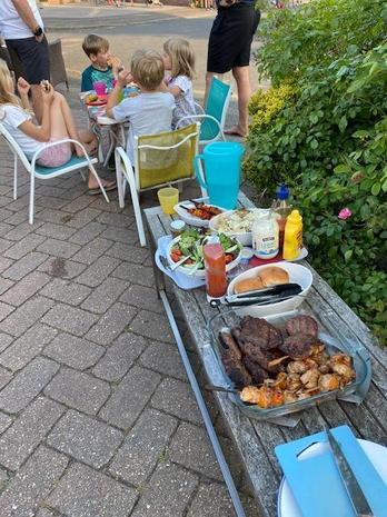 VE Day BBQ on their drive