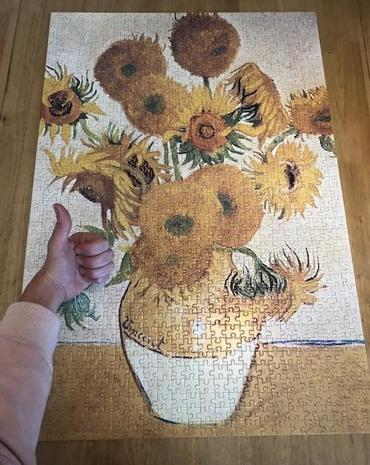 Ms Donovan finally completed her puzzle!
