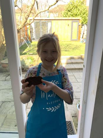 Martha enjoying cooking!