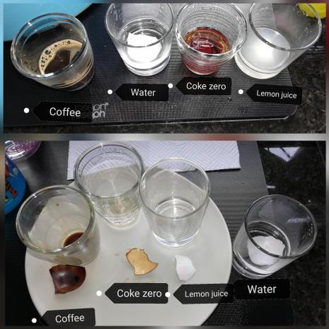 Antonio's science experiment about teeth enamel