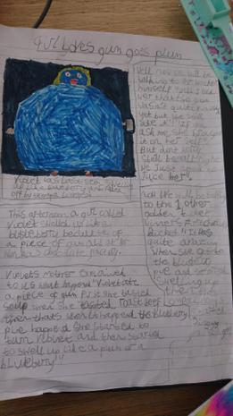Izzy's newspaper report on Charlie & Choc Factory!