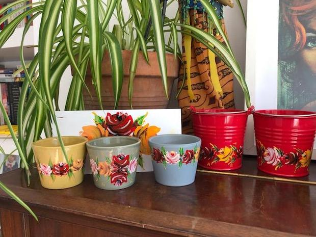 Ms Donovan enjoyed painting pots