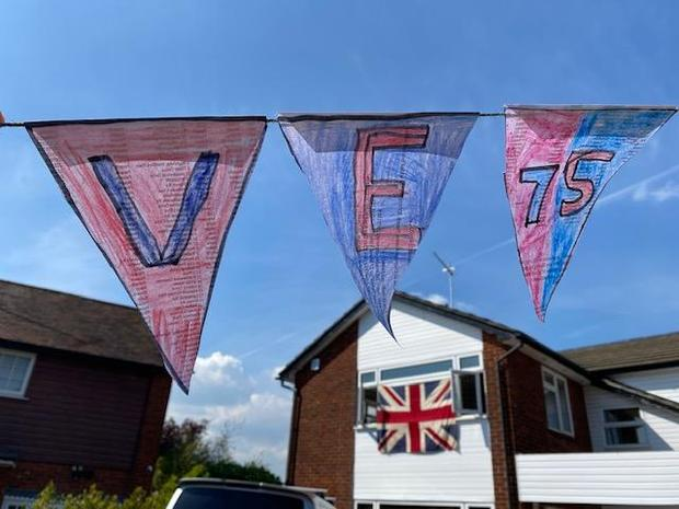 VE Day bunting by Hetti and her family