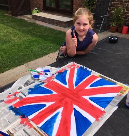 Aimee's Union Flag for VE Day!