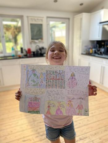 Anya's Princess and the Pea storyboard