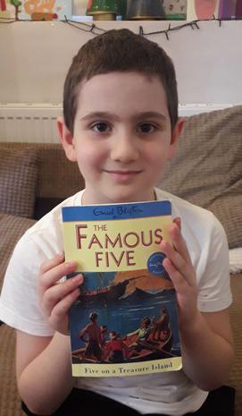 Deniz has been enjoying reading!