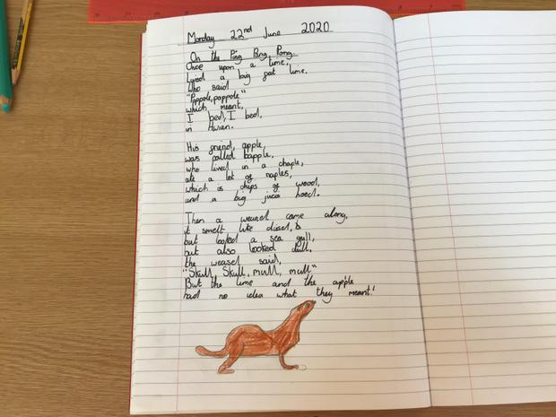 Polly's wonderful nonsense poem!