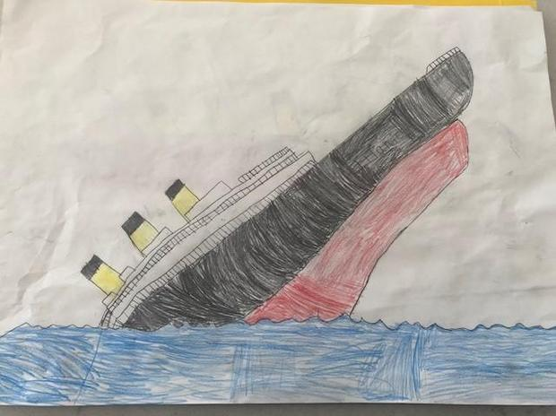 Seb's amazing picture of the Titanic