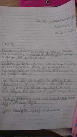 Deputy Prime Minister Isabella's letter!