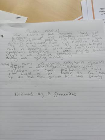 Antonio's story 'Monster Mischief'