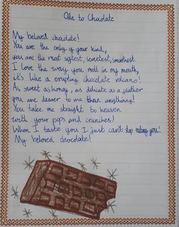 Hania's fantastic 'Ode to chocolate'
