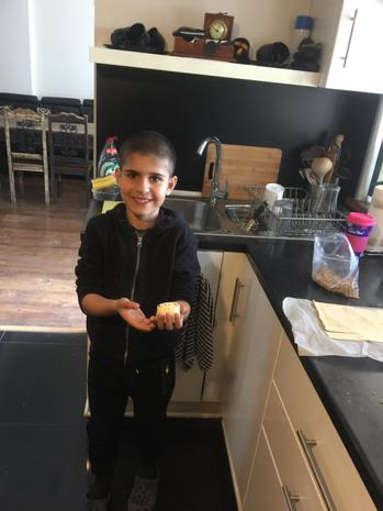 Alex doing some baking...