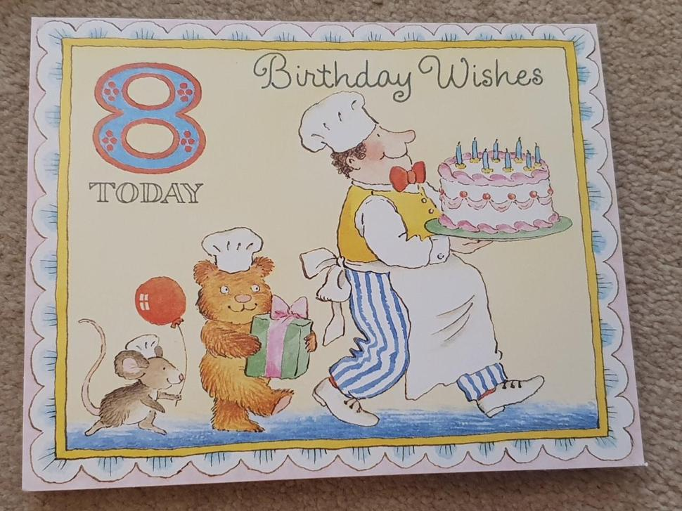 Birthday Card Front to Goldilocks