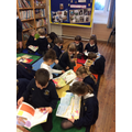 The children enjoyed sharing books!