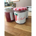 Making jam and writing labels