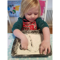 Mark making in flour