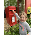 Posting our letters and cards