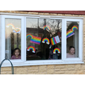 A lovely idea, filling windows with rainbows :)