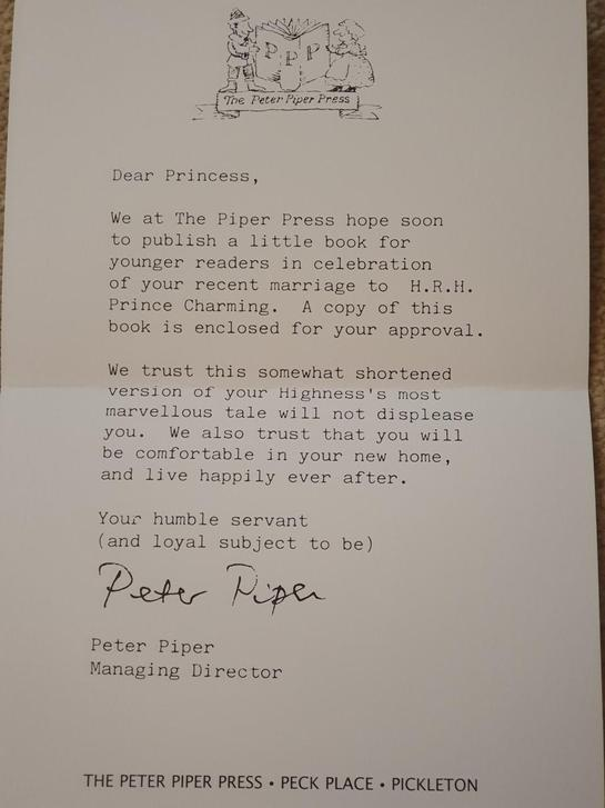 Letter to Cinderella