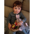 The Easter bunny and eggs