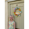 Making an Easter wreath