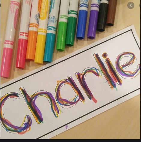 Rainbow name writing