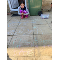 Using chalk outside to do great work