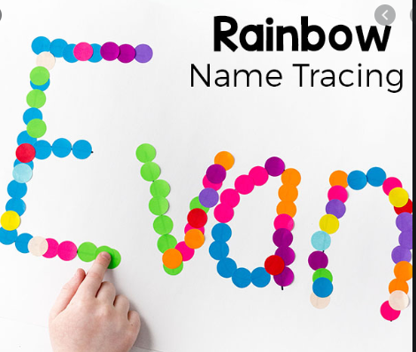 Recording your name with stickers