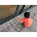 Name writing with chalks
