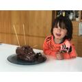 Making a chocolate hedgehog cake-YUMMY!