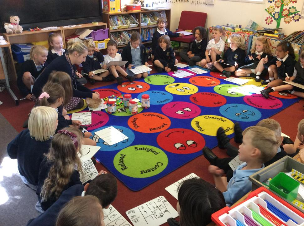 Beech class enjoyed estimating in maths.
