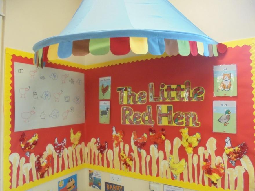 The little red hen art
