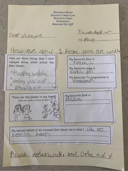 A letter to a penpal