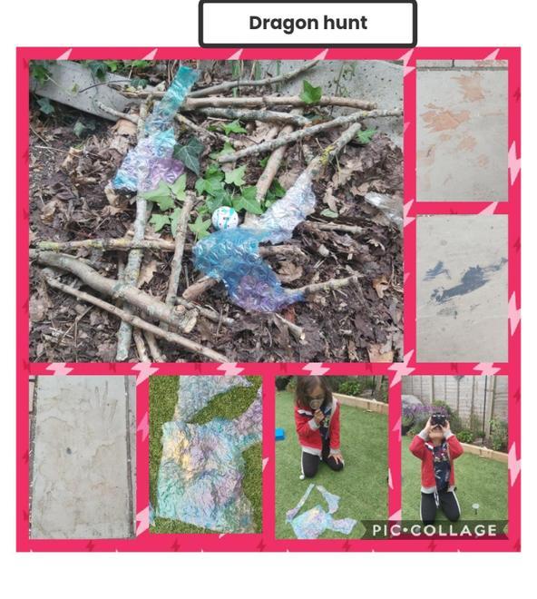 Dragon clues found in the garden.