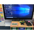 This is where you choose your lunch and use the interactive whiteboard.