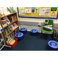 Here is our reading and listening area.