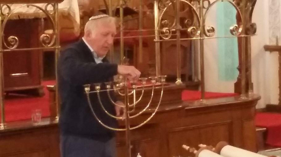 At the synagogue
