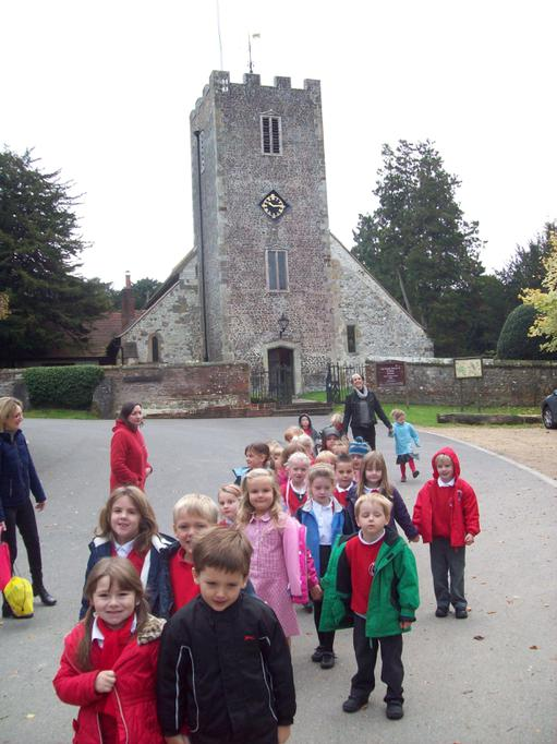 Visiting the local church and having a guided tour